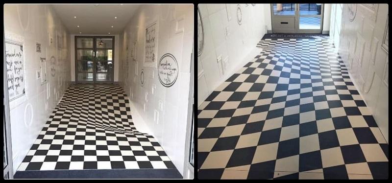 ilusión óptica pisos