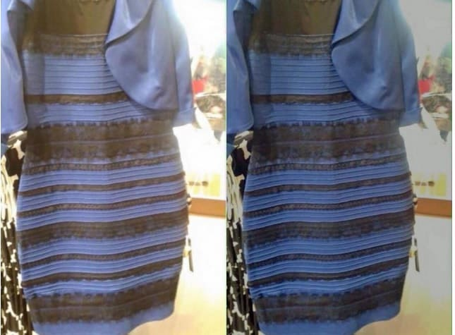 ilusión óptica vestido negro o azul