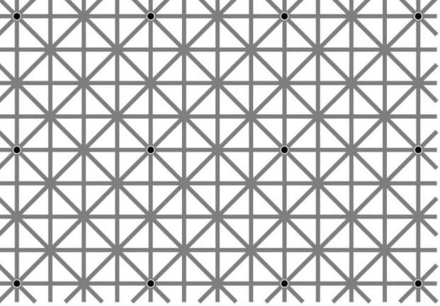 ilusión óptica puntos negros